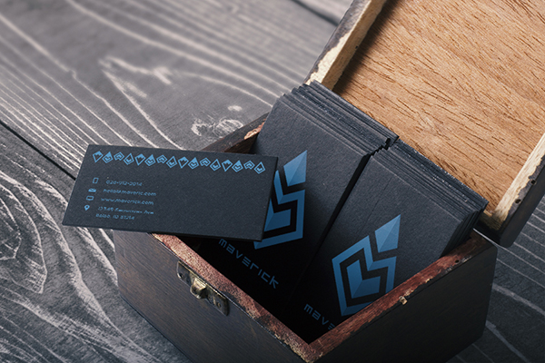 maverick business card low